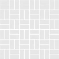 Mosaiikkilaatta LPC Basket Weave Matt White 0113, 2,2x4,7cm, verkolla, valkoinen