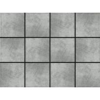 Lattialaatta LPC Fulda Grey, 10x10cm, liimatäpläarkki, harmaa
