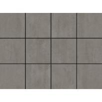 Lattialaatta LPC Minimal Vison, 10x10cm, liimatäpläarkki, ruskea