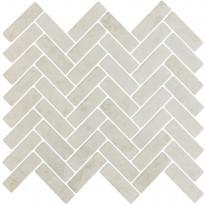 Mosaiikkilaatta LPC Herringbone Beige, 2,2x7,3cm, matta, lasikuituverkolla