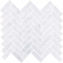 Mosaiikkilaatta LPC Herringbone Vaaleanharmaa, 2,2x7,3cm, matta, lasikuituverkolla