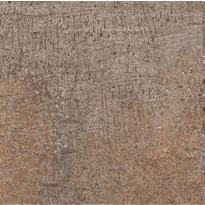 Lattialaatta LPC Mineral Ruoste, 14,7x14,7cm, tasapintainen, matta ruskea