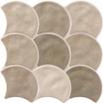 Lattialaatta LPC Shell Ruskea Mix, 30,7x30,7cm, laineileva, matta