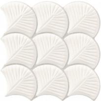 Seinälaatta LPC Shell Valkoinen, 30,7x30,7cm, kohokuvioinen, matta