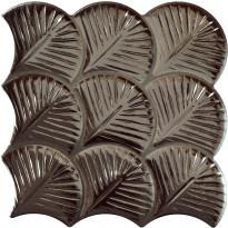 Seinälaatta LPC Shell Antrasiitti, 30,7x30,7cm, kohokuvioinen, matta