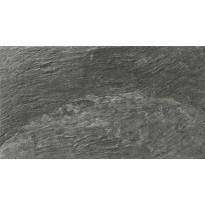 Seinälaatta LPC Piedra Antrasiitti, 31x56cm, strukturoitu, matta musta