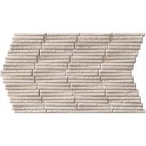 Seinälaatta LPC Piedra Stick Norsunluu, 31x56cm, kohokuvioinen, matta valkoinen