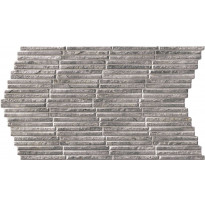 Seinälaatta LPC Piedra Stick Grafiitti, 31x56cm, kohokuvioinen, matta harmaa
