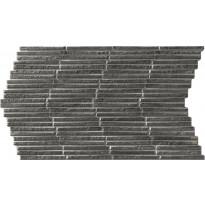 Seinälaatta LPC Piedra Stick Antrasiitti, 31x56cm, kohokuvioinen, matta musta