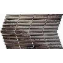 Seinälaatta LPC Piedra Stick Hopea, 31x56cm, kohokuvioinen, kiiltävä