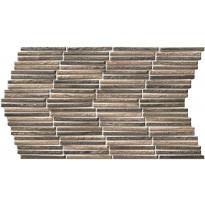 Seinälaatta LPC Tundra Ruskea, 31x56cm, kohokuvioinen, matta