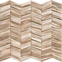 Seinälaatta LPC Serenade Ruskea, 44x44cm, kohokuvioinen, matta