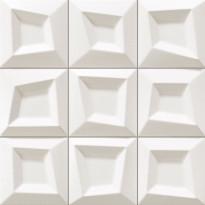 Seinälaatta LPC Squares Valkoinen, 33x33cm, kohokuvio, matta, valesauma