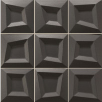 Seinälaatta LPC Squares Musta, 33x33cm, kohokuvio, matta, valesauma