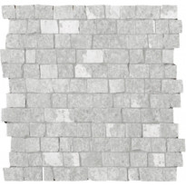 Mosaiikkilaatta LPC Slate St Cobble Kalkki, myllytetty, matta, leikattu, lasikuituverkolla, harmaa