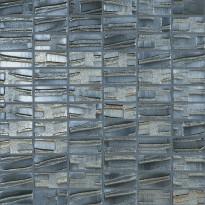 Mosaiikkilaatta LPC Glass Moon Black 659, 2,5x5cm, kohokuvio, matta, lasikuituverkolla, musta