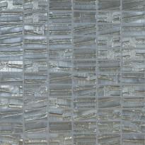 Mosaiikkilaatta LPC Glass Moon Silver 658, 2,5x5cm, kohokuvio, matta, lasikuituverkolla, hopea