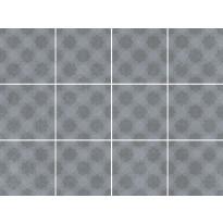 Lattialaatta LPC Swing 3 Grey Decor, 10x10cm, matta