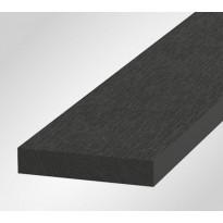 Reunalauta Onewood Basic, 80x15x4200mm, puukomposiitti, tummanharmaa