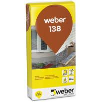 Rouhepinnoituslaasti Weber Vetonit 138 vaalea 20 kg
