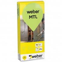 Märkätilalaasti Weber MTL, 20kg
