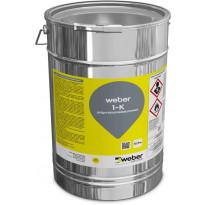 Polyuretaanielastomeeri Weber 1-K RAL7035, 12.5kg