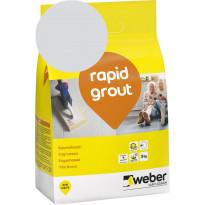 Saumalaasti Weber Saint-Gobain rapid grout, 13 Silver grey, 3kg