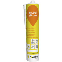Silikonimassa Weber Neutral Silicone, 10 Transparent, 310 ml