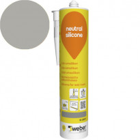 Silikonimassa Weber Neutral Silicone, 16 Grey, 310 ml