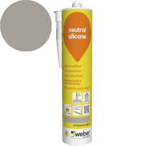 Silikonimassa Weber Neutral Silicone, 17 Medium grey, 310 ml