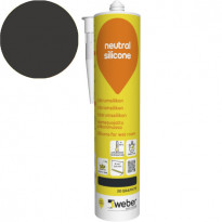 Silikonimassa Weber Neutral Silicone, 20 Graphite, 310 ml