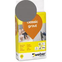 Saumalaasti Weber Saint-Gobain classic grout, 18 Dark grey, 15kg