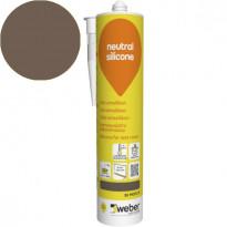 Silikonimassa Weber Neutral Silicone, 36 Mocca, 310 ml