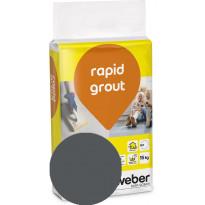 Saumalaasti Weber Rapid Grout, 19 Anthracite, 15 kg