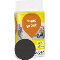 Saumalaasti Weber Saint-Gobain rapid grout, 20 Graphite, 15kg