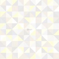 Tapetti Origin Hide & Seek 337210, 0,53x10,05m, harmaa/keltainen