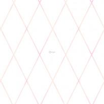 Tapetti Origin Hide & Seek 347493, 0,53x10,05m, valkoinen/vaaleanpunainen