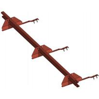 Lumiestepaketti Ormax 1-putk. 3 m savitiilenpunainen