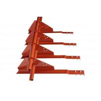 Lumiestepaketti Ormax 2-putk. 3 m tupapunainen