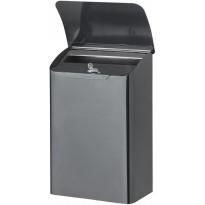 Metallinen postilaatikko Orthex, musta
