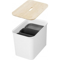 Lajitteluastia SmartStore Collect 76l, 3-osainen, valkoinen
