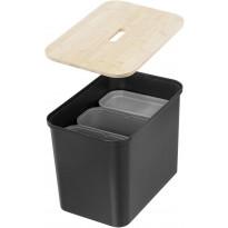 Lajitteluastia SmartStore Collect 76l, 3-osainen, musta