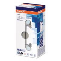 LED-spottivalaisin Osram Led Spot Gr 2x3W 230V