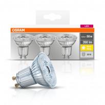 LED-spottilamppu Osram BASE PAR16 50, 3,6 W/827, GU10, 36° valokeila, 3 kpl/pak