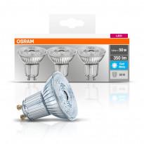 LED-spottilamppu Osram BASE PAR16 50, 3,6 W/840, GU10, 36° valokeila, 3 kpl/pak