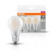 LED-lamppu Osram BASE CLASSIC A L FR 60, 7 W/827, E27, 3 kpl/pak