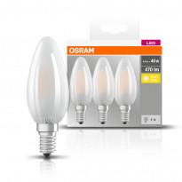 LED-lamppu Osram BASE CLASSIC B L FR 40, 4,5 W/827, E14, 3 kpl/pak