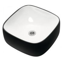 Pesuallas Otsoson Aamu, 390x390x145mm, valkoinen/musta