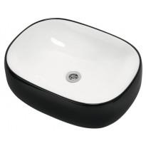 Pesuallas Otsoson Aamu, 540x400x145mm, valkoinen/musta, Tammiston poistotuote