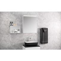 Peilikaappi Otsoson Luvia 60, LED-valolippa, 600x725x225mm, valkoinen, Verkkokaupan poistotuote